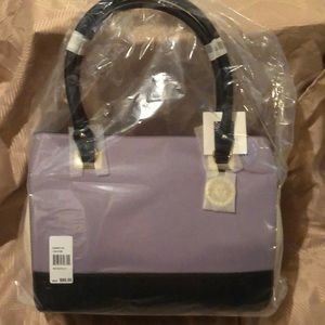 Bnwt Anne Klein leather tote bag. Lavender